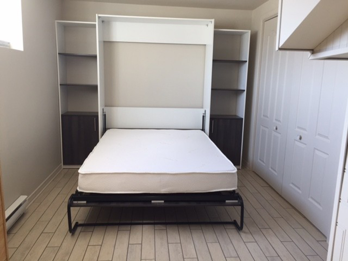 murphy bed lit mural montr al. Black Bedroom Furniture Sets. Home Design Ideas